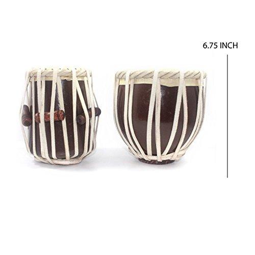 India Meets India Miniatur-Tabla-Set, handgefertigt, authentisch, klassisches indisches Musikinstrument