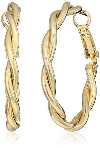 t-tahari-twist-tube-clutchless-gold-hoop-earrings