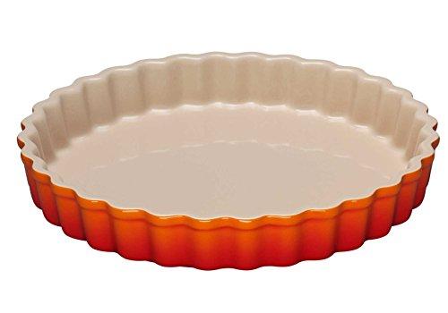 Le Creuset 91015924090100 moule à tarte en céramique 24cm Céramique volcanique 25,3x25,3x4 cm
