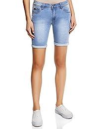 oodji Collection Damen Lange Jeansshorts