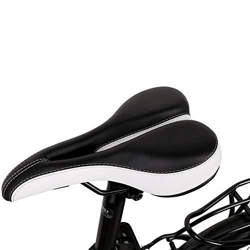 RBS-Bicycle seat Komfort-Fahrradsitz Gemütlichste Fahrradsattel for Heimtrainer Fahrräder Im Freien Weit Weich Gepolstert Fahrradsattel (Color : White)