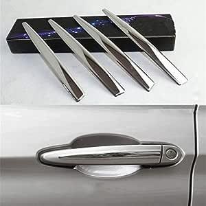 Yiwang 304 Edelstahl Chrom Außentürgriff Abdeckung Verkleidung 4 Stück Für 1 3 4 Serie X3 X4 X5 X6 Autozubehör Auto
