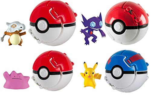Rocco Juguetes T18873 – Pokemon Throw 'n Pop Poké Ball, Personajes Surtidos