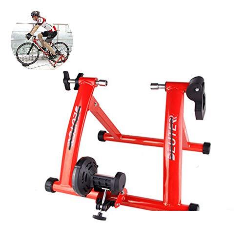 XULONG Fahrrad Trainer, 26-28 Zoll Rennrad Mountainbike Reitplattform Fahrrad Indoor Training Rahmen Indoor Entertainment Training Rack,Red