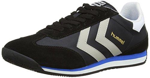 Hummel Stadion L, Chaussons Sneaker Adulte Mixte Noir (Black)