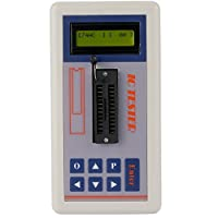 Tutoy Multi-functional Transistor Tester Integrated Circuit IC Tester Meter Maintenance Tester MOS PNP NPN Detector 3.3V/5.0V/Auto Search Mode