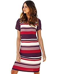 Ladies Ex NEXT Striped Scoop Neck Shift Dress. Sizes 8-18