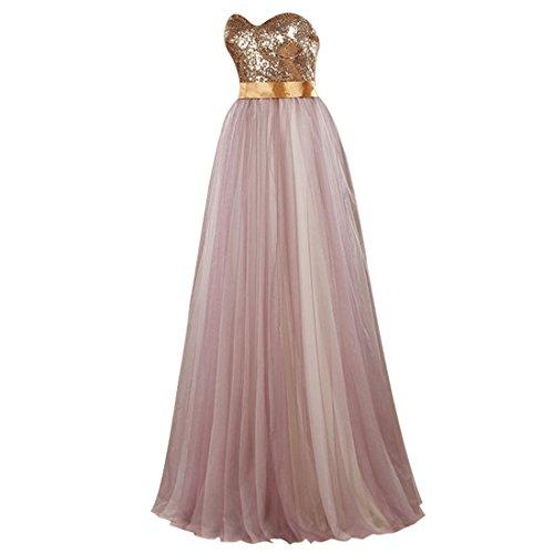 Find Dress Elégant Robe Demoiselle d'Honneur Princesse Colorée Mariée Femme Plissé Jupe Fille Party Anniversaire Robe de Soirée Longue Grande Taille Formelle en Tulle Lavande