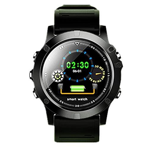 JIEGEGE L11 Smart Watch, IP68 Wasserdicht Herzfrequenz Schrittzähler Bluetooth Männer Sport Outdoor Smart Watch Für Android Und IOS - Der Französische Outdoor-lampe