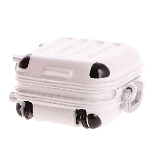 MagiDeal MIni Viaggio Bagagli Scatola Valigia Per 01:12 Casa delle Bambole Dolls House Accessori - Bianco
