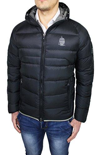 Piumino uomo Marina Yatching Original nero giaccone giubbotto casual vera piuma d'oca (54)