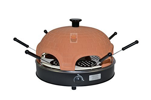 Pizza oven Pizzarette for 6 people with Special stone back plate - the pizza fun