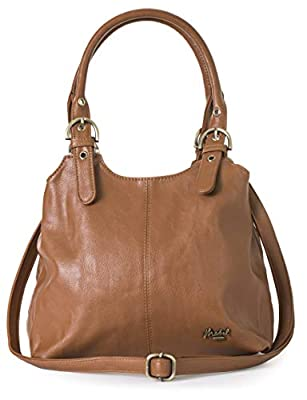 Mabel London Womens Multiple Pockets Medium Size Long Strap Shoulder Handbag Bag - AMELIA