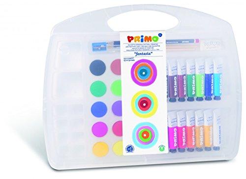 Künstler Set für Kinder und Kleinkinder - 14 Temperafarben + 15 Deckfarben im Mehrzweck-Koffer -...