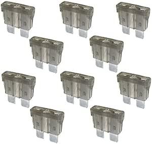 10 X Flachstecksicherung Sicherung 2a 32v Grau Auto