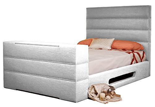 Sweet Dreams Mazarine Upholstered TV Bed, Silver