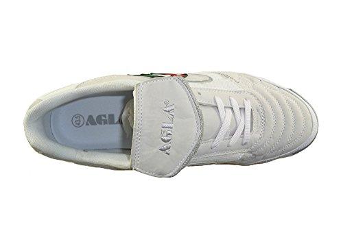 AGLA , Herren Futsalschuhe gelb gelb 27.5 White/White