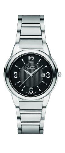 Roamer 507979 SM2 - Reloj analógico de cuarzo para mujer con correa de acero inoxidable, color plateado