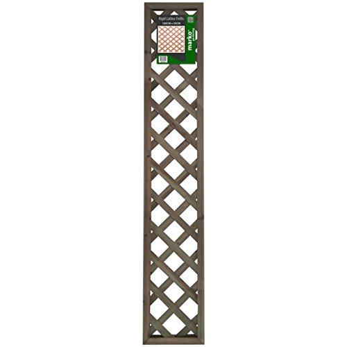 41mRSssdvaL - BEST BUY# Marko Gardening Rigid Wooden Lattice Pattern Garden Trellis Decorative High Panels (30cm x 180cm) Reviews