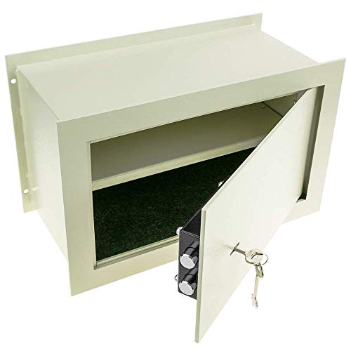 PrimeMatik - Caja Fuerte de Seguridad empotrada de Acero con Llaves 40x20x25cm...