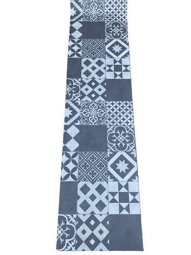 Lavelahome tappeto cucina a metraggio pvc largo 50 cm marmette (piastr nero)