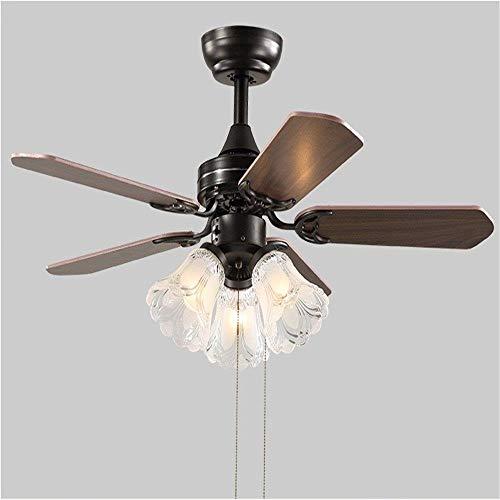 Luz del ventilador- Ventilador de techo con lámpara de ventilador retro de...