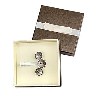 ArtDog Ltd. Chihuahua langhaariger, Manschettenknöpfe und Krawattennadel, Foto-Schmuck, Schmuck für Männer, Box