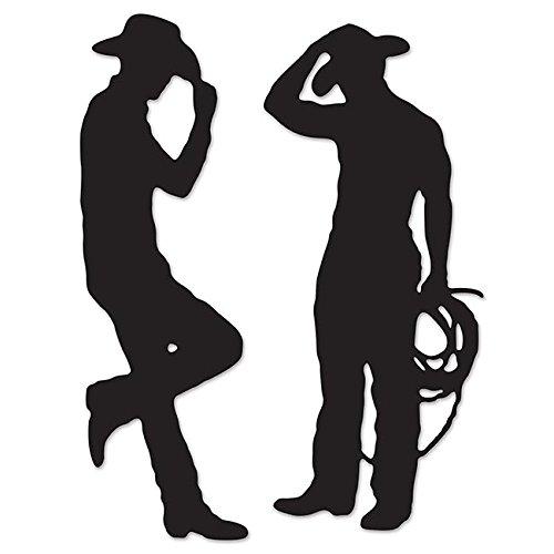 Beistle 54225 Cowboy Silhouetten, 35-Zoll und 37-Zoll