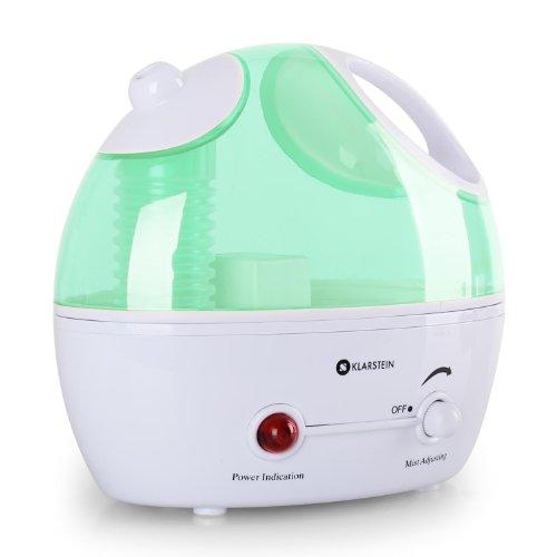 Klarstein Belleville Mini-Luftbefeuchtungsgerät kleiner Ultraschall Luftbefeuchter (regulierbarer Dunstausstoß, 25W, entnehmbarer Tank, 1,4 L) grün