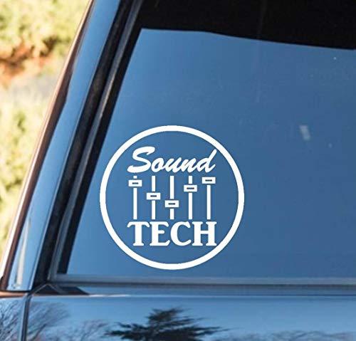 Cellayay Sound Tech Aufkleber für Musikmixer, DJ-Verstärker, Drums, Gitarre, Bass und Keyboard