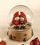B&P Italia Globo Schnee (Palla Glas) mit süßen Mädchen in Rot, Höhe 12 cm