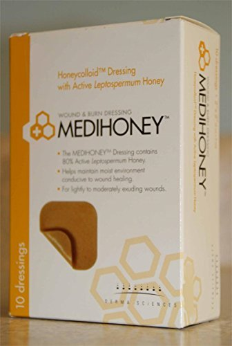 mckesson-medihoney-honeycolloid-dressing-4x5-box-of-10-model-31245-by-medihoney-by-medihoney