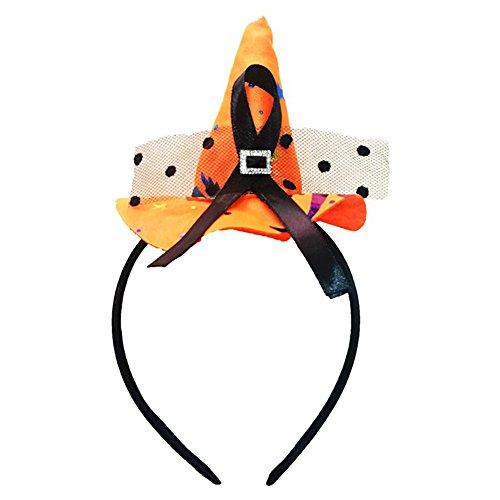 monicanine Cobweb Hexenhut Stirnband Haarband Frauen Halloween Party Requisiten Haar Zubehör, Orange, Einheitsgröße