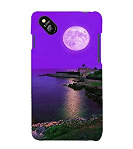 printtech Moonlight Nature Sea Back Case Cover for MicromaxBolt D303