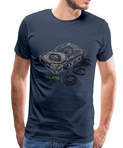 Spreadshirt Kassette Abgewickeltes Tonband Männer Premium T-Shirt, XL, Navy (Kassetten-shirt)