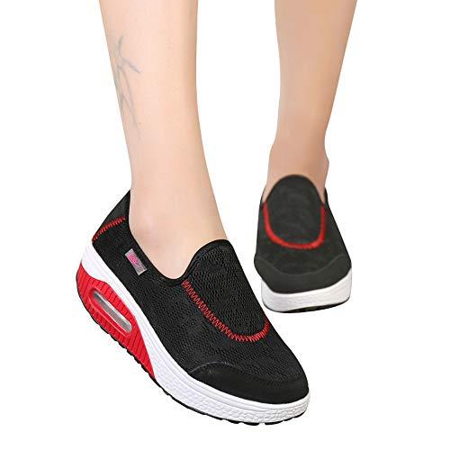 Sneaker Damen Laufschuhe Slipper Dick-Soled Bequem Schuhe Air Cushion Turnschuhe Frauen Outdoor Mesh Casual Sportschuhe Joggingschuhe ABsoar