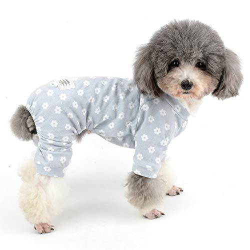 Kostüm Niedlich Einfach Weiblichen - Zunea Schlafanzug für kleine Hunde, Gänseblümchen-Design, Baumwolle, Schlafanzug, Schlafanzug, Hemd mit Hose, Haustier, Hunde und Katzen, Vier Beine, für alle Jahreszeiten