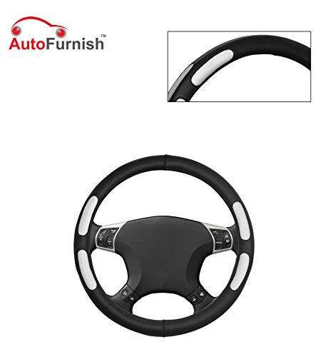 Autofurnish (AFSC-712 Flake Black) Leatherite Car Steering Cover For Hyundai Fluidic Verna 4S  available at amazon for Rs.299