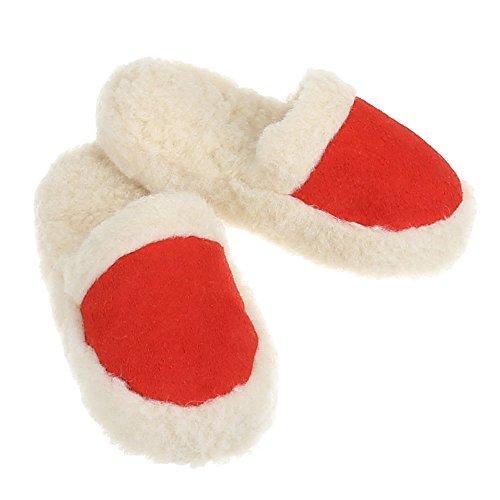 Damen und Herren Schuhe, PAN-1-201, HAUSSCHUHE Rot