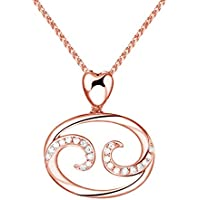 Paialco Trend - Collana con ciondolo a forma di segno zodiacale (Cancro), in argento sterling placcato oro