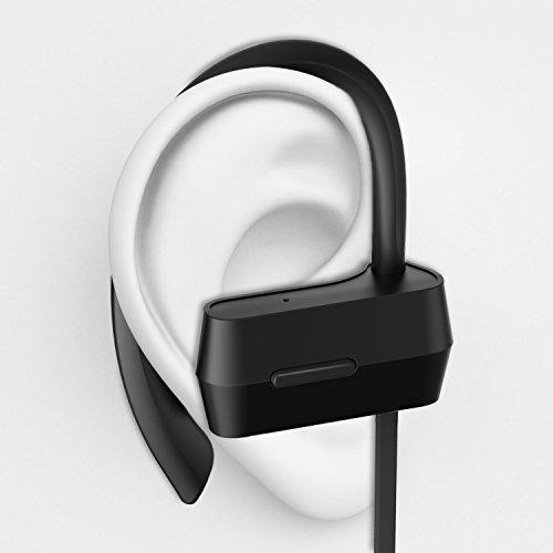 Sunvito Bluetooth V4.1 Headset, Sweatproof Sport drahtloser Kopfhörer In-Ear-Ohrhörer mit Mikrofon für Lauftraining Gym (Stereo, Geräusch-Annullierung, 6 Stunden Spielzeit, Sichere Ohrbügel Design) - 3
