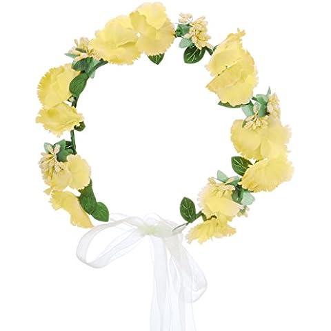 HanLuckyStars Corona de Flores Guirnalda Flores Artificiales para el pelo Elegante Decoradas para Boda Fiesta Viaje