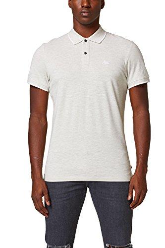 edc by ESPRIT Herren Slim Fit Poloshirt 028CC2K037, Grau (Medium Grey 035), Small