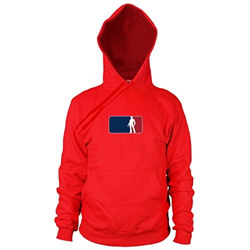 Planet Nerd Logan League - Herren Hooded Sweater, Größe: M, Farbe: rot