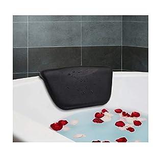 Essort Spa Badewannenkissen PU Badewannenkissen mit rutschfesten Saugnäpfen, ergonomische Home Spa Kopfstütze für Entspannung Kopf, Nacken, Rücken und Schultern, 26 x 14 x 4 cm
