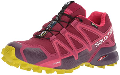 Salomon Damen Speedcross 4 GTX, Trailrunning-Schuhe, Rot (Beet Red/Potent Violet/Citronelle), 40 2/3 EU (7 UK)