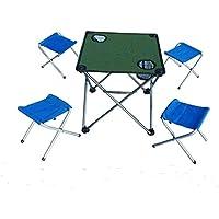 CRUTCH Mini silla plegable mesa plegable silla de la pesca, deep blue five piece