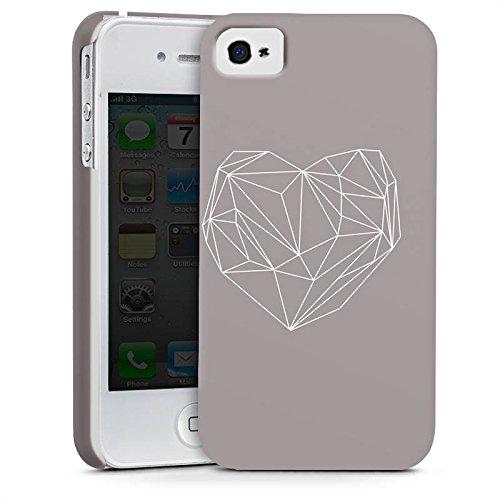 Apple iPhone X Silikon Hülle Case Schutzhülle Herz Liebe Love Premium Case glänzend