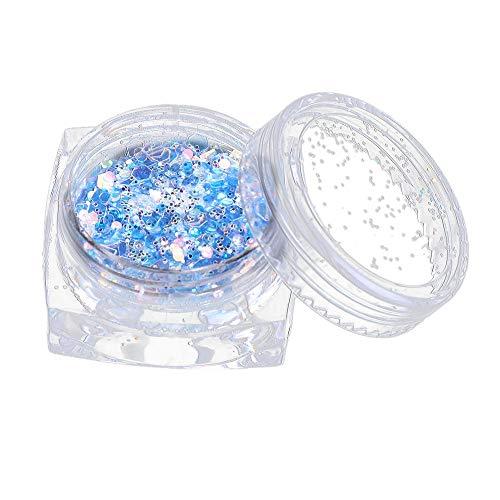 Quaan 7 Farbe Klobig Gemischt Funkeln zum Gesicht Karosserie Nägel Auge Schatten Festivals Tätowierung Kosmetik