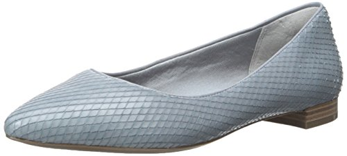 Rockport Adelyn Ballet Large Cuir Chaussure Plate Grey